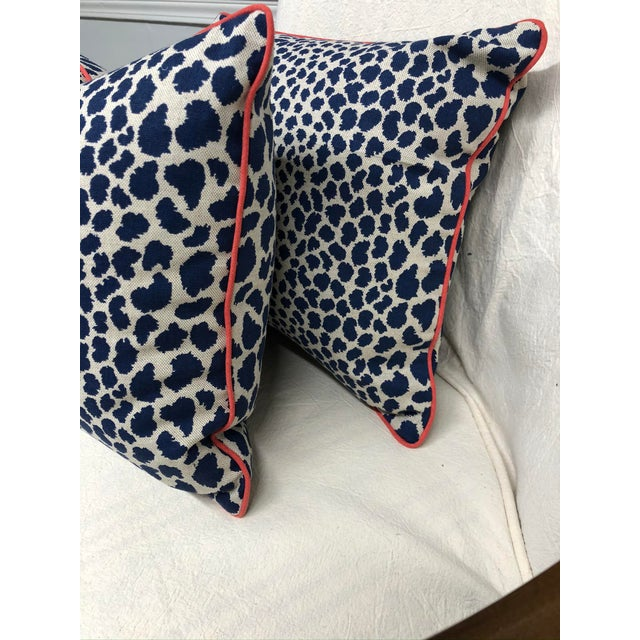 2010s Contemporary Square Animal Print Pillows - a Pair For Sale - Image 5 of 11