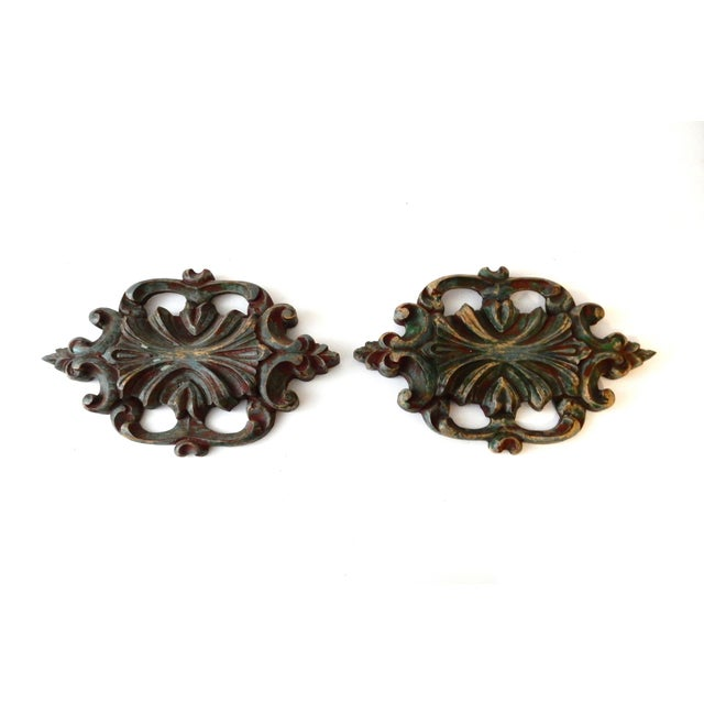 Italian Baroque-Style Wall Hangings - A Pair - Image 4 of 4