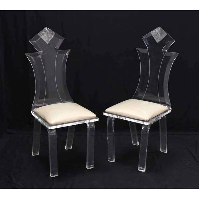 Lucite Four Chairs Table Dinette Set For Sale - Image 9 of 9