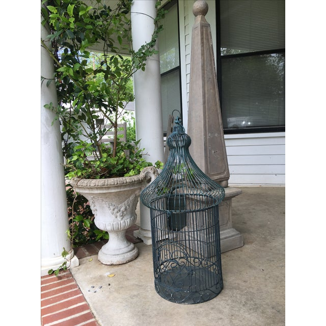 Traditional Vintage Bird Cage Planter For Sale - Image 3 of 6