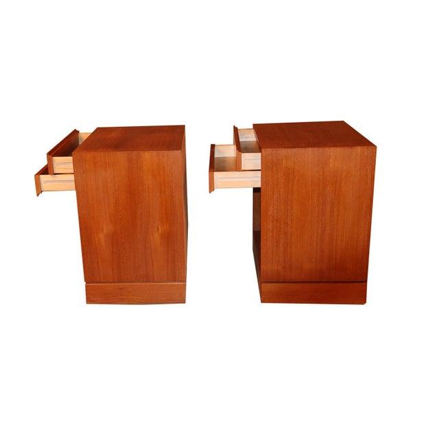 Arne Wahl Iversen Teak Danish Modern Nightstands End Side Tables Pair For Sale - Image 9 of 12