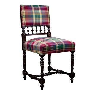 19th-Century Neo-Renaissance Oak Side Chair For Sale