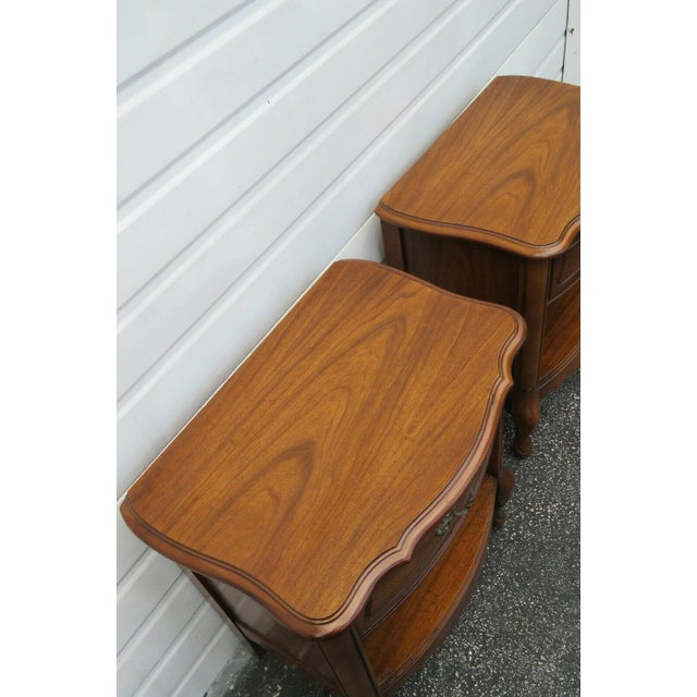 French Cherry Nightstands Side End Tables - a Pair For Sale In Miami - Image 6 of 13