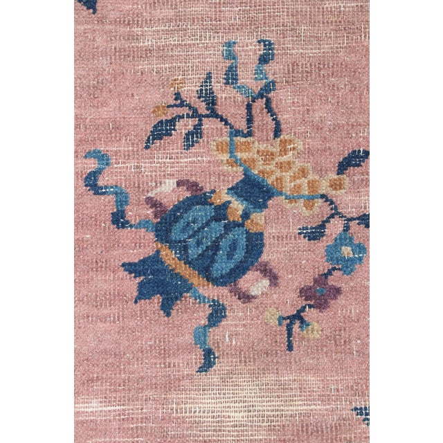 Mid 20th Century Mid 20th Century Chinese Hand Knotted Floral Rug For Sale - Image 5 of 8