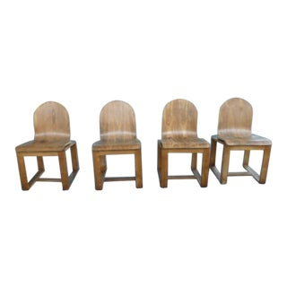 Set of 4 Mid-Century Danish Modernist Bent Molded Plywood Chairs For Sale