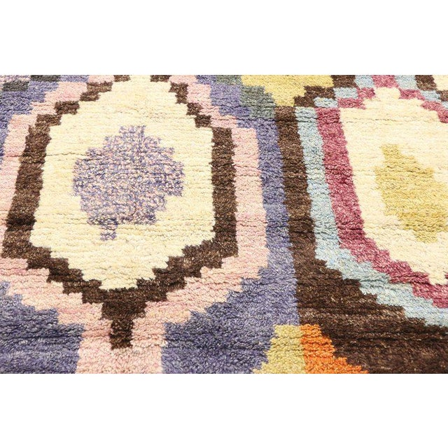 Tan New Contemporary Moroccan Postmodern Style Rug - 10′3″ × 13′11″ For Sale - Image 8 of 9