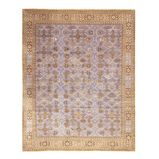 Burano Blue and Beige Wool Rug-8'x10'1' For Sale