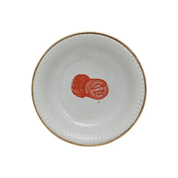 French French Champagne Bistro Nut / Olive Dish For Sale - Image 3 of 3