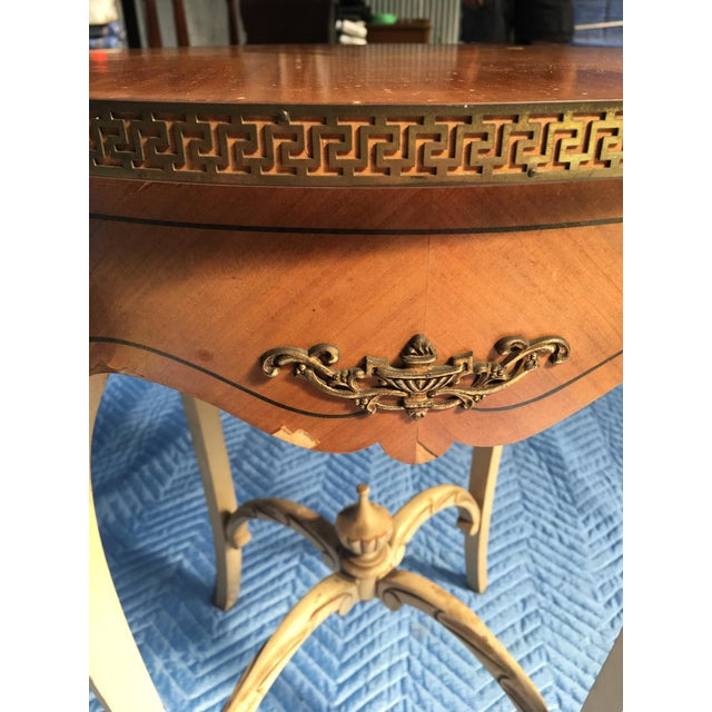 Boho Chic Wooden Carved Side Table For Sale - Image 3 of 4