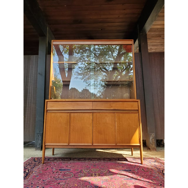 Drexel Mid-Century Modern Parallel China Cabinet For Sale - Image 13 of 13