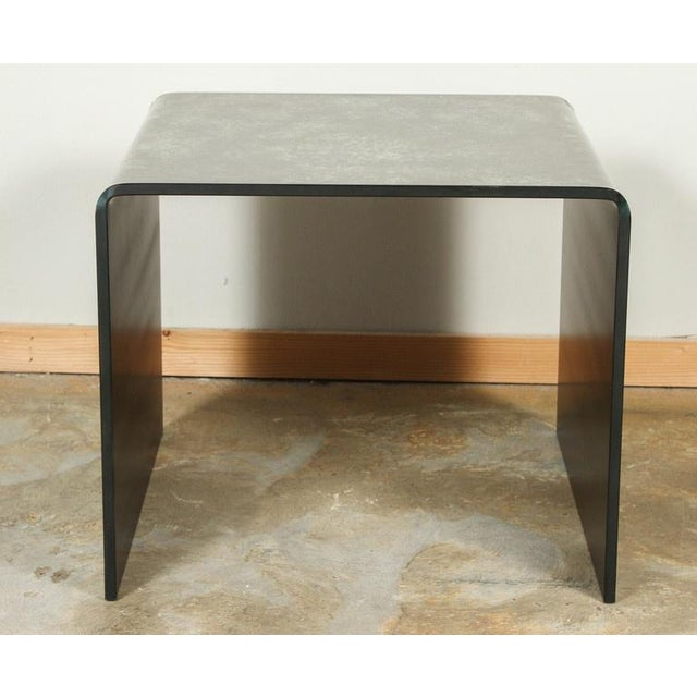 Waterfall Reverse Painted Glass Side Table - Image 4 of 6