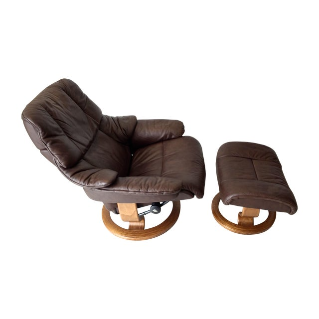 Vintage Ekornes Stressless Lounge Chair For Sale