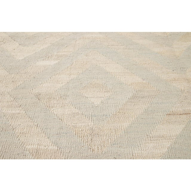 Textile 21st Century Contemporary Turkish Kilim Wool Rug For Sale - Image 7 of 12