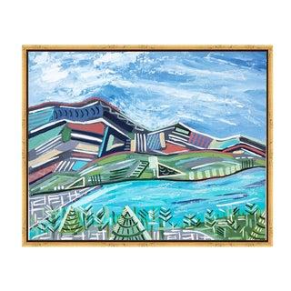 """Peyto Lake"" Original Abstract Painting For Sale"