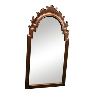 Vintage Solid Wood Mirror by Baker Furniture Company For Sale