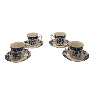 Royal Staffordshire Cathay J&g Meakin Cups & Saucers - Service for 4