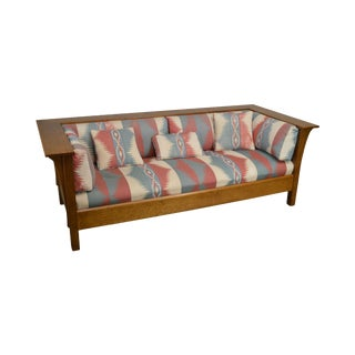 Stickley Mission Collection Oak Prairie Sofa Settle B For Sale