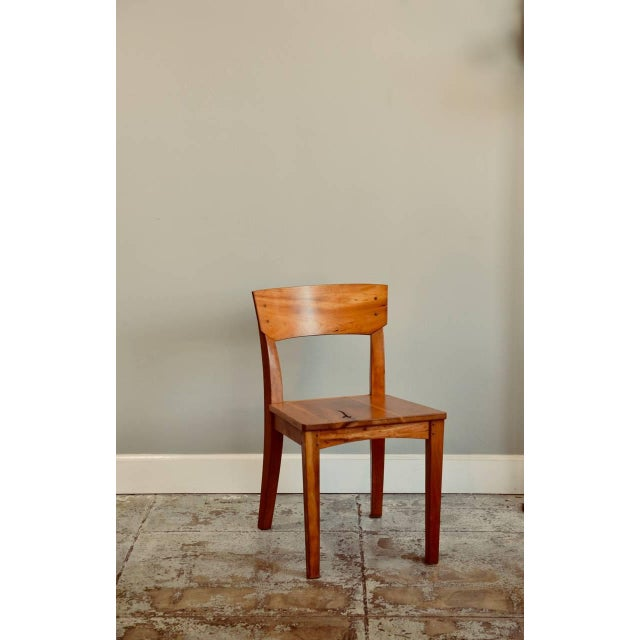 1990s 1990s Vintage Woodworker Studio Chairs- A Pair For Sale - Image 5 of 12