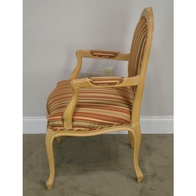 Ethan Allen Home Collection Louis XV Style Armchair Made in Italy For Sale In Philadelphia - Image 6 of 13