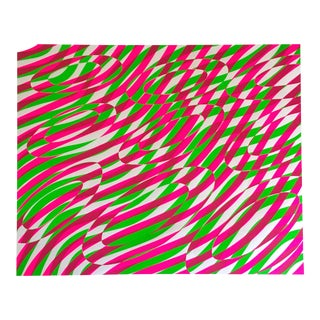 Vintage 1970 Modernist Op Art Sus Hayden Limited Edition Original Silkscreen Print