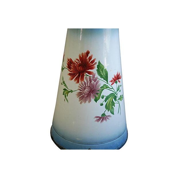 1920s Vintage French Hand-Painted Enameled Pitcher - Image 2 of 7