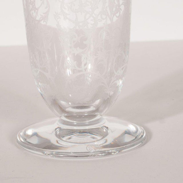 This elegant vase was realized by Baccarat- one of the most illustrious glass studios in modern history- in France, circa...