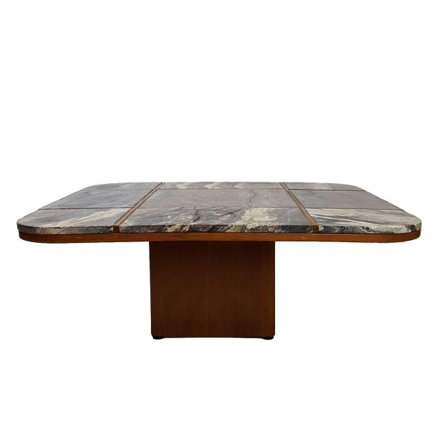 Bendixen Danish Modern Marble Top Coffee Table - Image 2 of 7