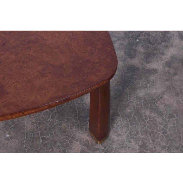 Brown Triangle Coffee Table by Edward Wormley for Dunbar For Sale - Image 8 of 9