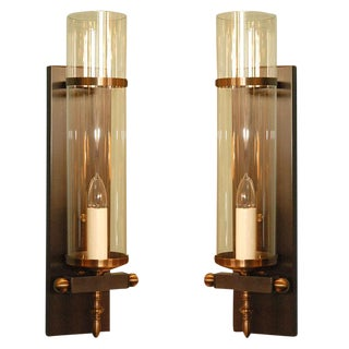 Paul Marra Design Traditional Hurricane Sconces - a Pair For Sale
