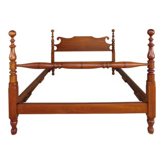 L & J G Stickley Cherry Valley Cannon Ball Poster Queen Size Bed For Sale