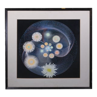 1972 Masao Komura Abstract Print Signed, Framed For Sale