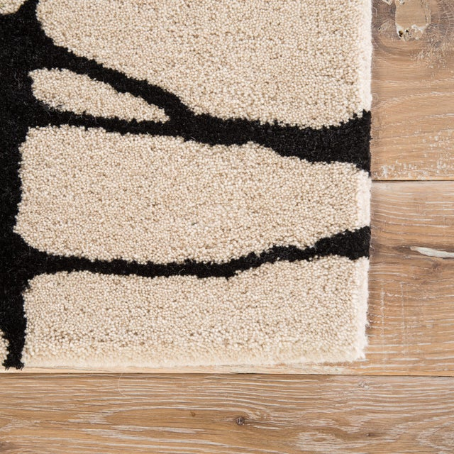 Contemporary Nikki Chu by Jaipur Living Chandler Handmade Abstract Cream/ Black Area Rug - 8' X 10' For Sale - Image 3 of 6