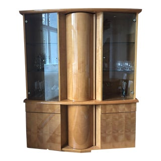 Italian Modern China Cabinet by Excelsior Designs For Sale