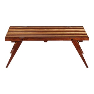 1960s Vintage Slated Bench For Sale