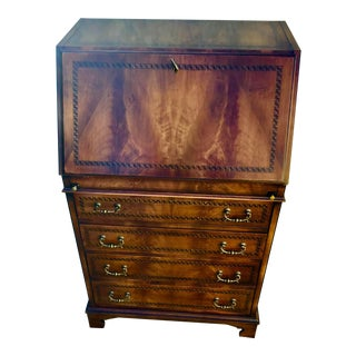 Neoclassic Smania Walnut Secretary Desk For Sale