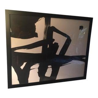 """1950 Franz Kline """"Untitled"""" Framed Giclee Print"""