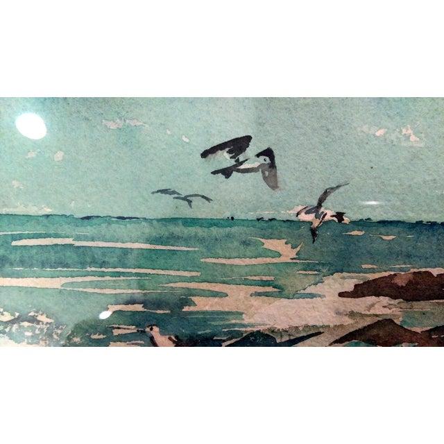 Harriet Ermentrout Seascape Watercolor Painting - Image 5 of 9