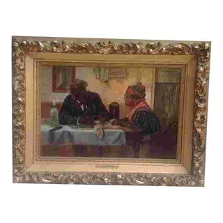 C. 1900 American Genre Painting For Sale