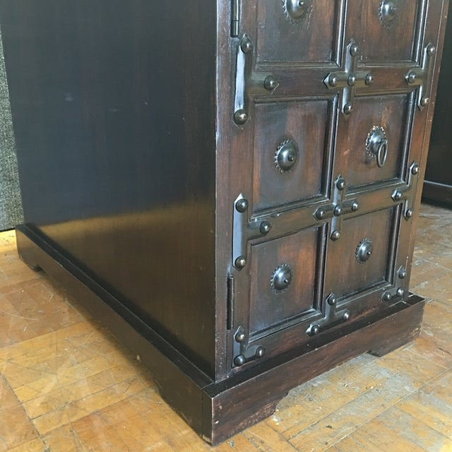 Dark Wood & Iron Gothic Desk For Sale - Image 4 of 11