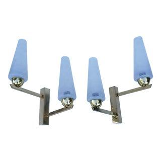Maison Lunel Brass Two Light Sconces - a Pair For Sale