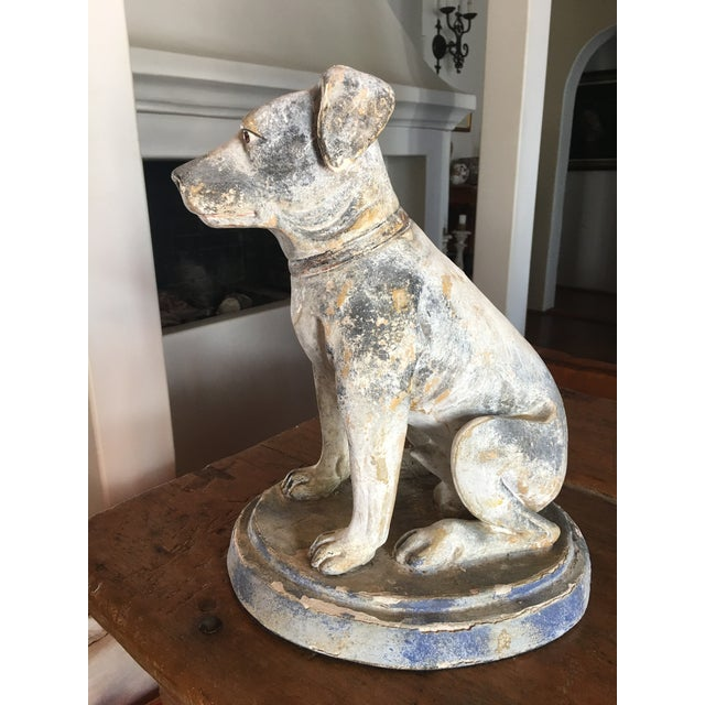 Vintage Mid Century Dog Statue For Sale - Image 4 of 10