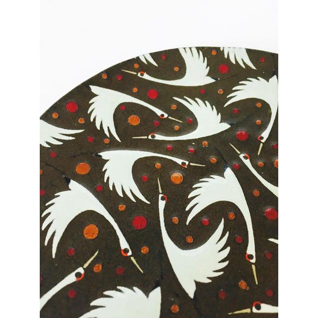 Mid Century Enamel Birds Decorative Plate - Image 4 of 6