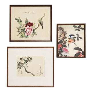 Mid 20th Century Asian-Inspired Bird Prints - Set of 3