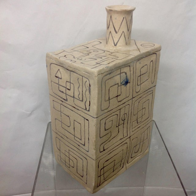 Carved Studio Pottery Vase - Image 2 of 8