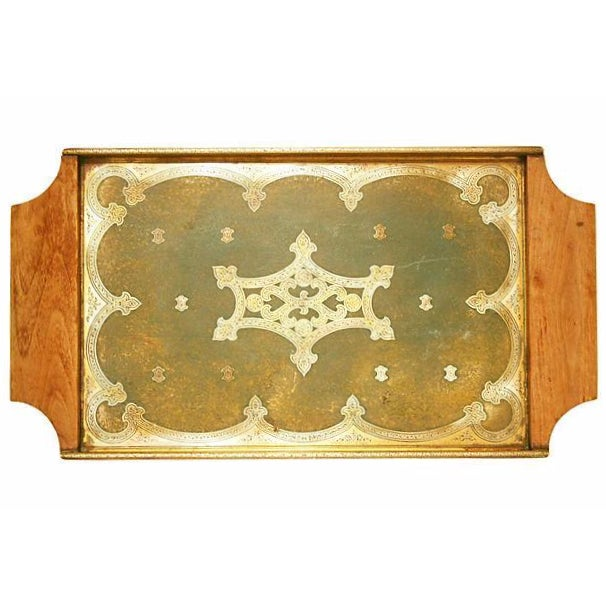 Antique Brass Tray - Image 1 of 5
