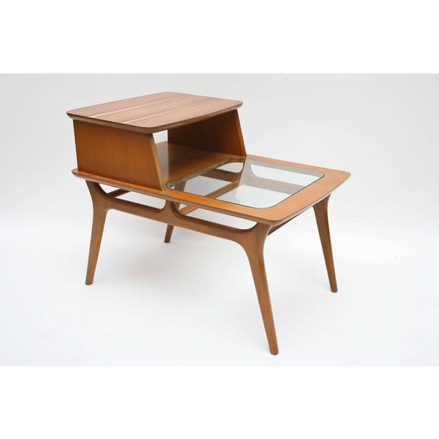 Mid-Century Modern Heywood-Wakefield Two-Tiered Side Tables, 1960s, USA For Sale - Image 3 of 10