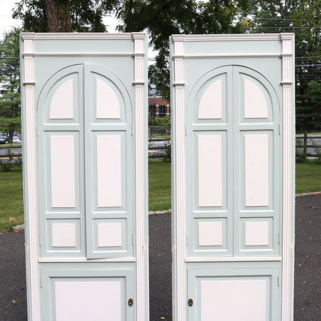 Custom Arch Panel Corner Cabinets - A Pair - Image 4 of 11