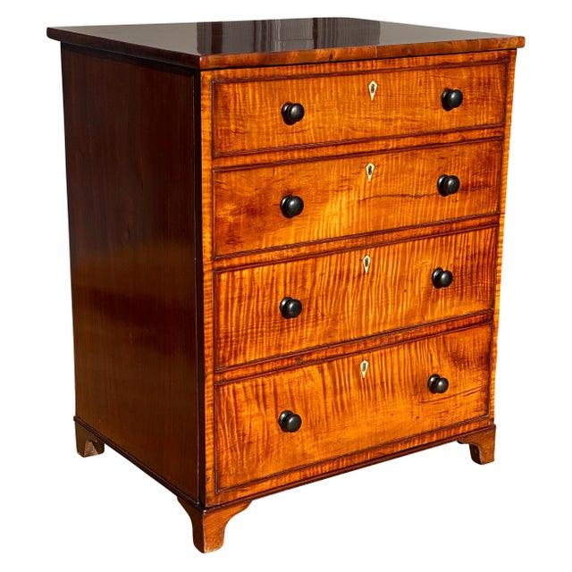 George III Fiddleback Mahogany Side Cabinet For Sale - Image 9 of 9