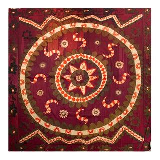 Moroccan Colorful Uzbek Suzani For Sale