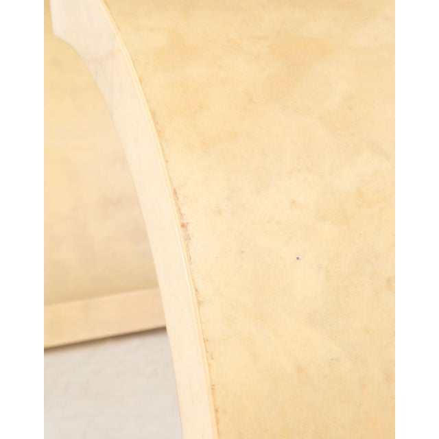 Modern Curved Parchment Console Table For Sale - Image 3 of 8